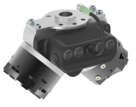 Pneuconnect x 2 Freedrive z dwoma pneumatycznymi chwytakami trójszczekowymi