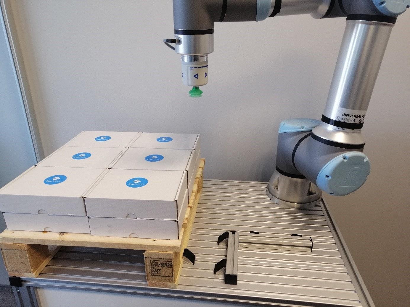 Pakowanie i paletyzacja cobotem