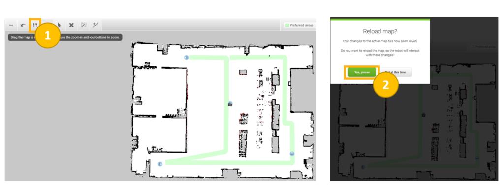 Widok pasku zadań kreatora map podczas tworzenia mapy